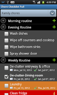 Chore Checklist Screenshot