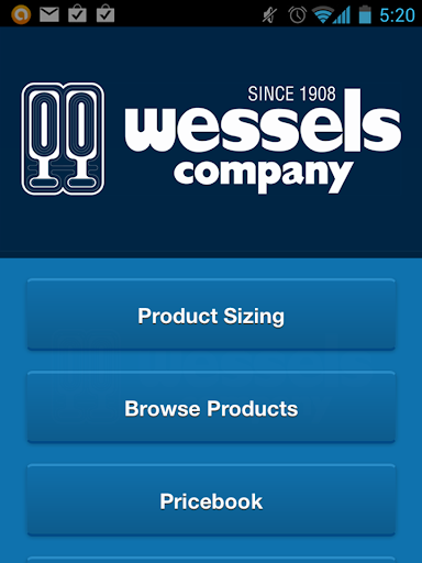 Wessels Product Sizer