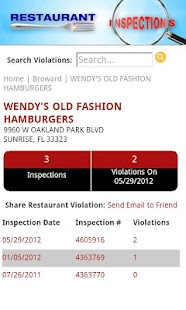 Restaurant Inspections - FL - screenshot thumbnail