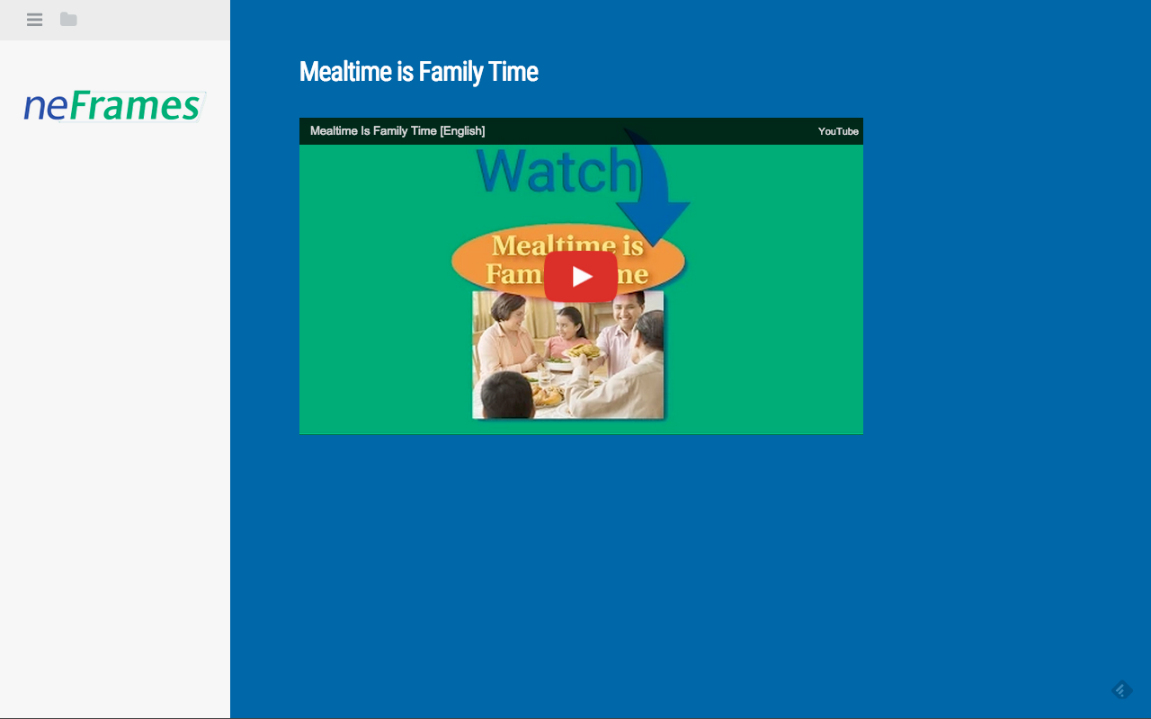 Mealtime is Family Time- screenshot