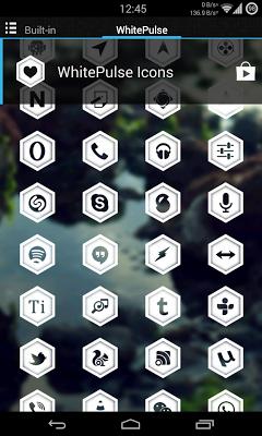 WhitePulse Icons (ADW/NOVA/GO) - screenshot