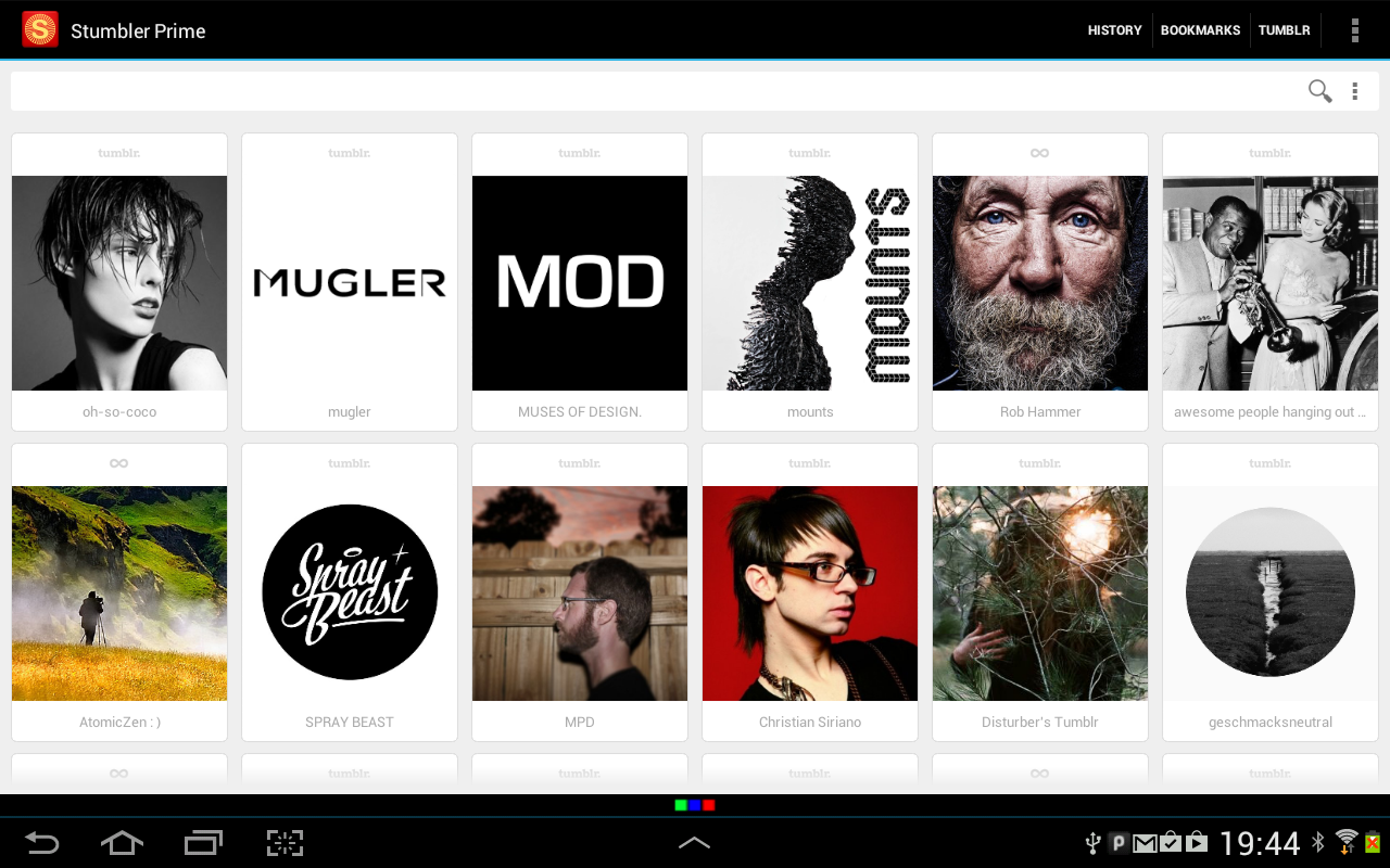 Stumbler Tablet: Tumblr Search - screenshot