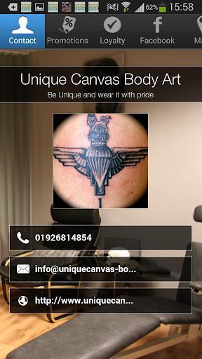 Unique Canvas Body Art