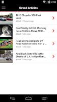 Screenshot of MOTOR TREND News