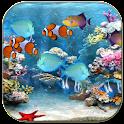 Tropical fishes aquarium icon