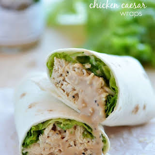 Crock Pot Chicken Caesar Wraps.
