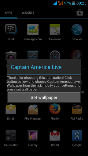 【免費個人化App】Captain America Live Wallpaper-APP點子