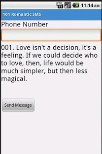 101 Romantic SMS - screenshot thumbnail