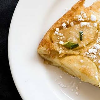 Apple Dutch Baby With Green Chiles.