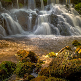 Röttle Falls by Colin Harley - Landscapes Waterscapes ( water, green, d5200, waterfall, falls, nikkor, nikon, stones, rocks,  )
