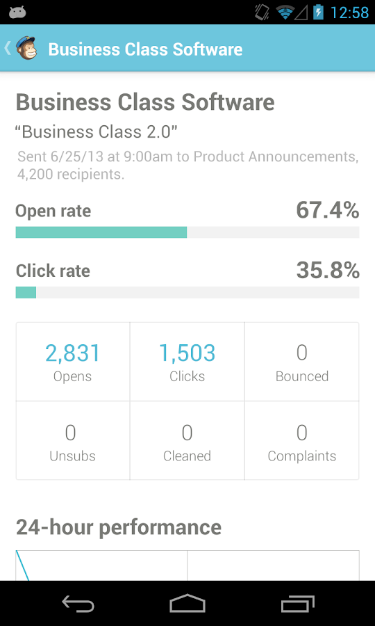 MailChimp for Android - screenshot