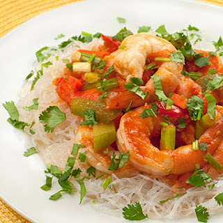 Hot and Sour Shrimp with Noodles.