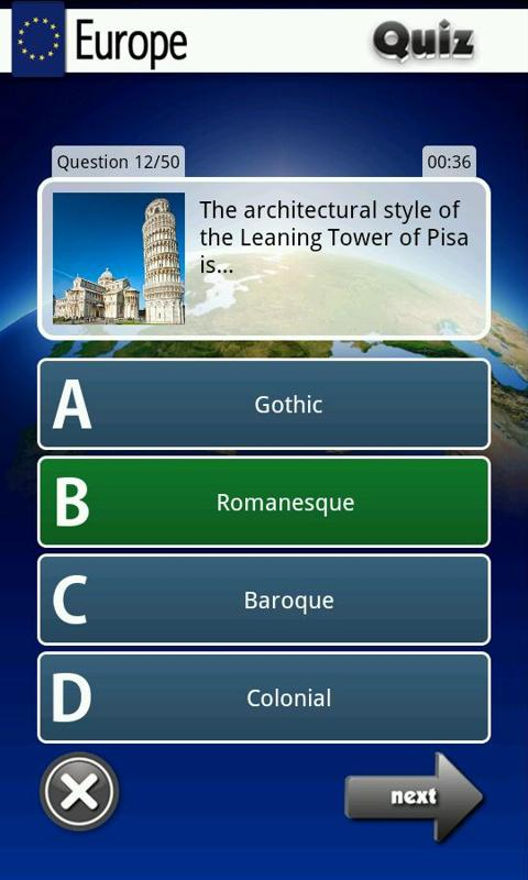 Europe Quiz - screenshot
