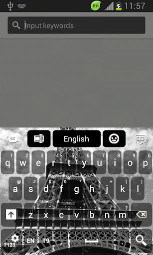 艾菲尔铁塔雪键盘
