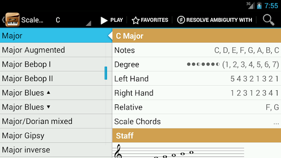 Piano Companion LITE:Chords - screenshot thumbnail
