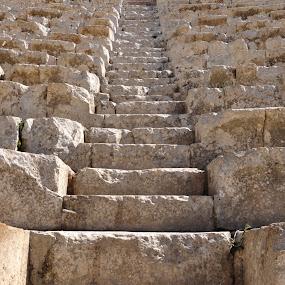 Jerash, Jordan by Carmel Bation - Buildings & Architecture Public & Historical ( jerash, jordan, steps,  )