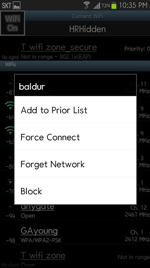 WiFi Priority - screenshot