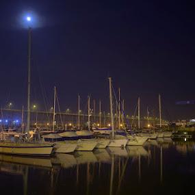 Boats by Marta Felgueiras - City,  Street & Park  Night ( cais, barcos, boats, marina, portugal, viana do castelo )