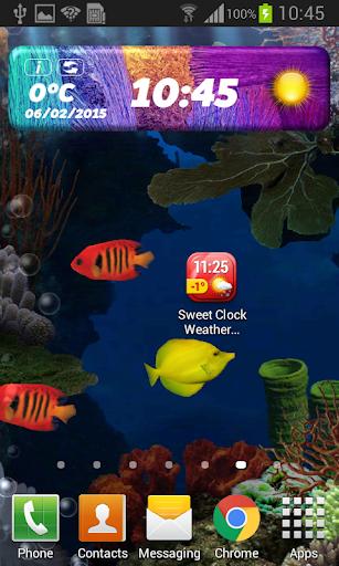 玩天氣App 甜蜜的時鐘天氣小工具免費 APP試玩