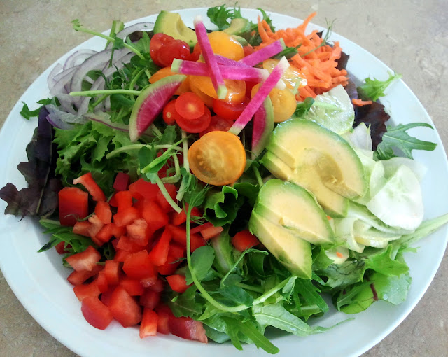 Beautiful Garden Salad Made With Fresh Local Organic