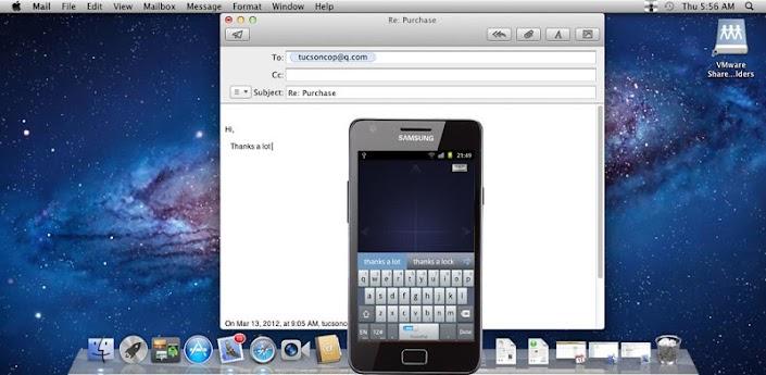 Transforma tu dispositivo android en un ratón inalámbrico, teclado y el trackpad usando WiFi. WiFi Mouse le permite controlar su PC, MAC o HTPC a través de una conexión de red local Via WIfI.        Características: Mouse cursor movimiento Click izquierdo y derecho Boton de Desplazamiento Entrada de teclado remoto Voz a texto de entrada para todos los idiomas Ratón y teclado en pantalla completa Conexión automática al iniciar la aplicación Compatible con Windows XP / Windows Vista / Windows 7 y Windows 8/Mac OSX. Descargar APK