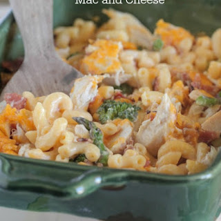 Chicken and Roasted Vegetable Mac and Cheese.