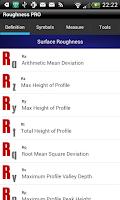 Screenshot of Roughness Pro
