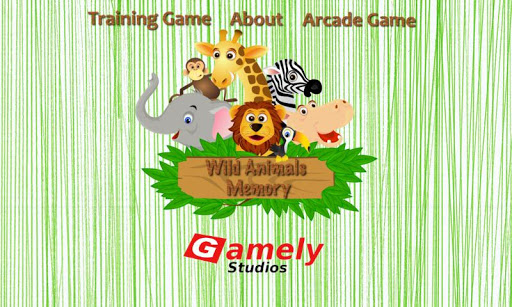 Wild Animals Memory for Kids