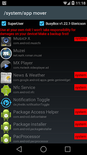 /system/app mover ★ ROOT ★ 1.7.3 screenshots 1