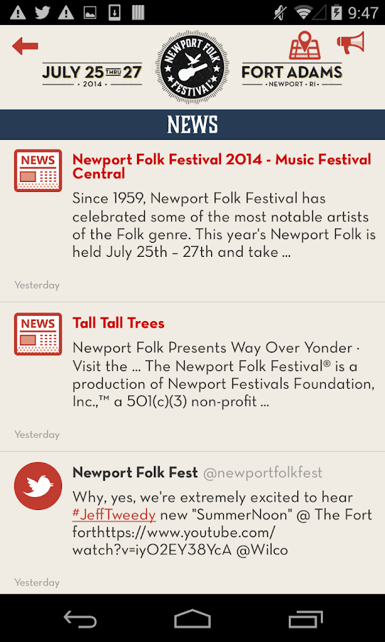 Newport Folk Festival - screenshot