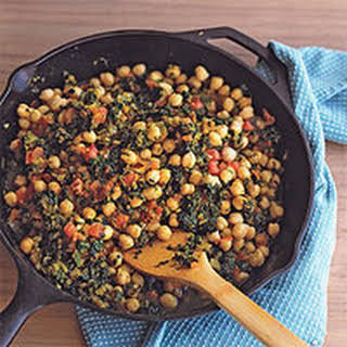 Chickpeas and Spinach.