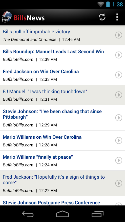 Bills News - screenshot