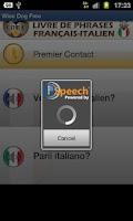Screenshot of French Italian Phrasebook