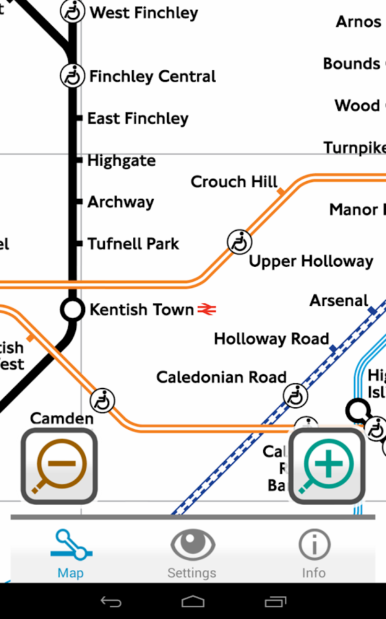 Colourblind Tube Map - screenshot