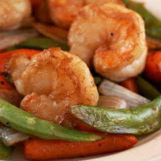 Soy-Grilled Shrimp with Asian Veggies.