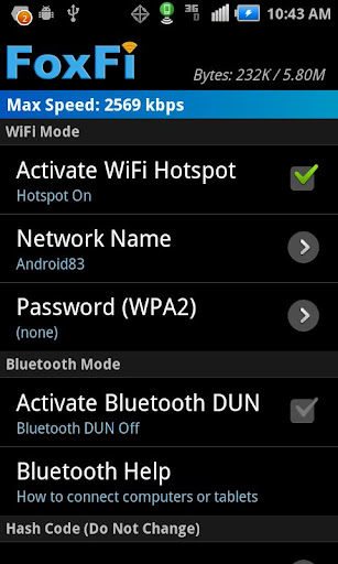 FoxFi (WiFi Tether w/o Root) FULL v2.19 [Unlocked]