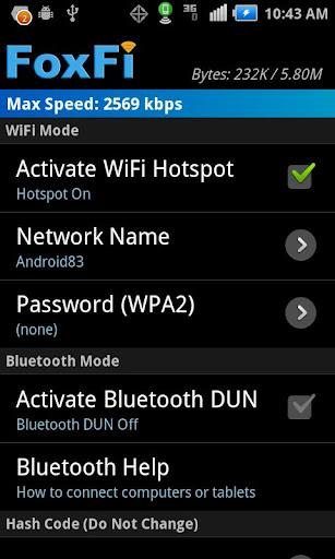 FoxFi WiFi Tether w/o Root v 2.19  Hack Mod APK [LATEST]