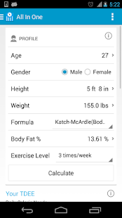 MyFitness Calculator - screenshot thumbnail