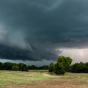 Approaching Weather by Robert Watson - Landscapes Weather ( clouds, lightning, weather, landscapes, storm, rural,  )