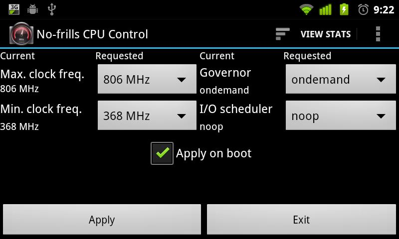 No-frills CPU Control - screenshot