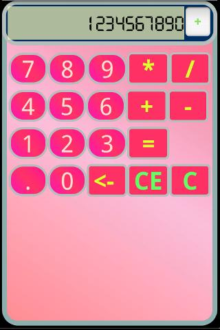 PinkCalc [CALCULATOR]- screenshot
