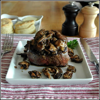 Filet Mignon with Mushroom Sauce.