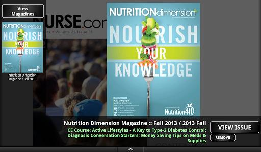 Nutrition Dimension Magazine