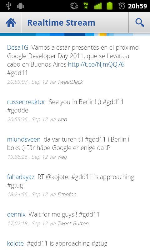 Google Developer Day 2011 - screenshot