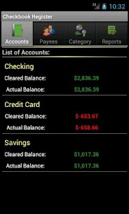 Checkbook Register- screenshot thumbnail