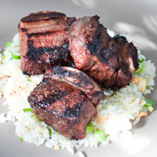 Kalbi Ribs with Macadamia Nut Rice.