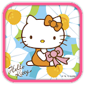 Hello Kitty White Flower Theme icon