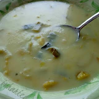 Creamy Potato And Leek Soup.