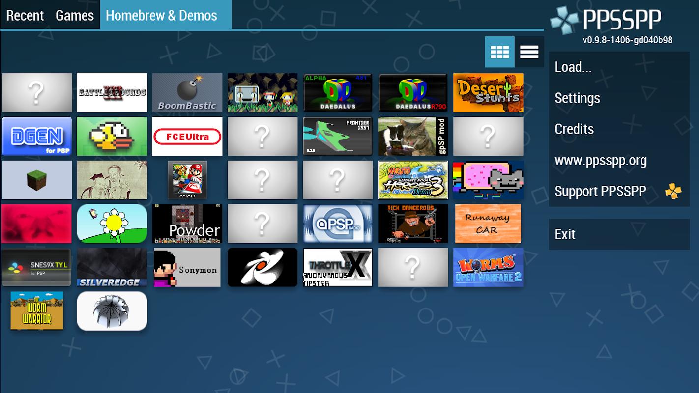 PPSSPP - PSP emulator screenshots