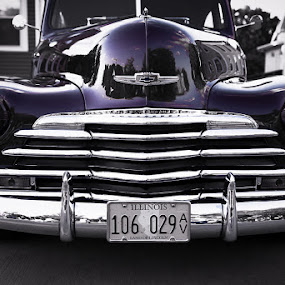Purple Chevy by Jay Anderson - Transportation Automobiles